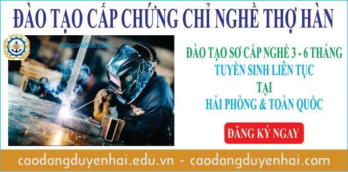 Đào tạo cấp chứng chỉ nghề thợ Hàn tại Hải Phòng
